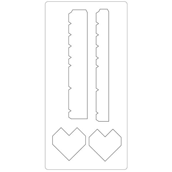 Gabarit de coupe Boîte coeur - 4 éléments - Photo n°2
