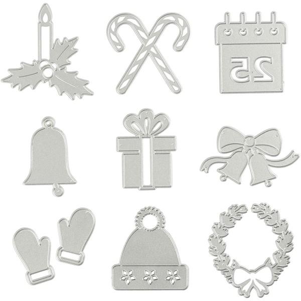 Gabarit de coupe et gaufrage - Motifs de Noël - 9 éléments - Photo n°1