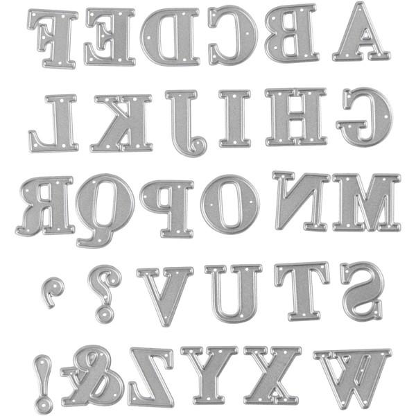 Matrice de coupe - Alphabet - 2 x 2,5 cm - Photo n°1