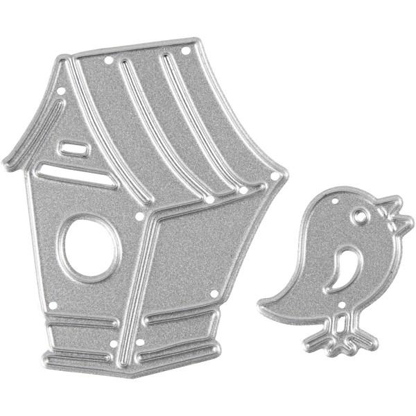 Matrice de coupe - Nichoir et oiseau - 2,5 à 4,5 cm - Photo n°1