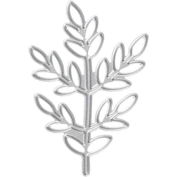 Matrice de coupe - Branche et feuilles - 4,4 x 6,5 cm - Photo n°1