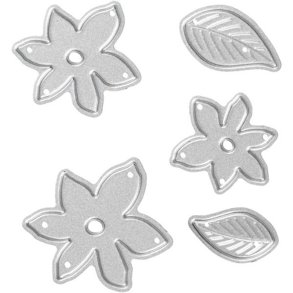 Matrice de coupe - Feuilles et fleurs -  cm - Photo n°1