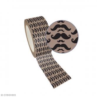 Ruban adhésif Queen Tape Graine Créative - Moustache - 48 mm x 8 m