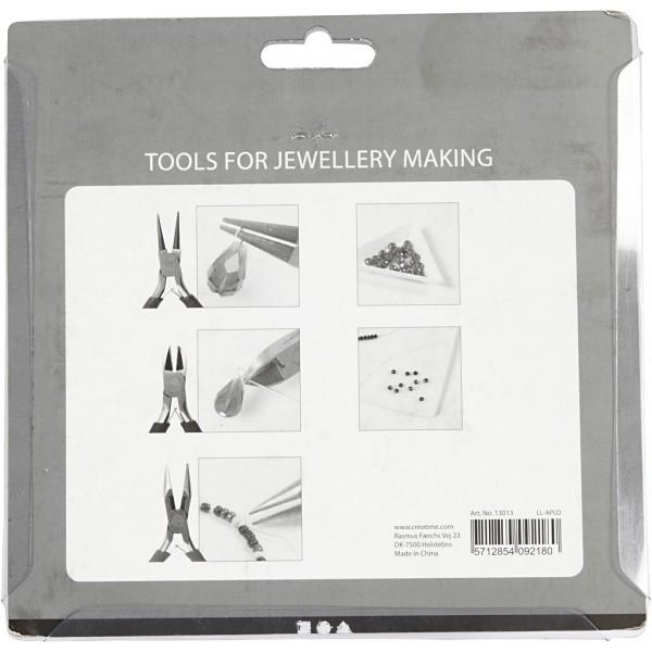 Kit pour fabrication de bijoux - Coupelles et pinces à bijoux - 7 pcs - Photo n°3