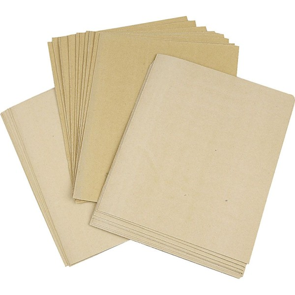 Assortiment de Papier De Verre - 23 x 27 cm - Grains : 80, 120 et 150 - 10 pcs de chaque - Photo n°1