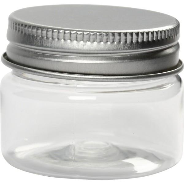Pot en plastique à Couvercle Vissé - 3,5 x 4,5 cm , 35 ml x 10 pcs - Photo n°1