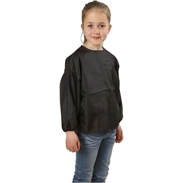 Tablier de peinture noir pour enfant - 4/6 ans - 47 cm - Photo n°1