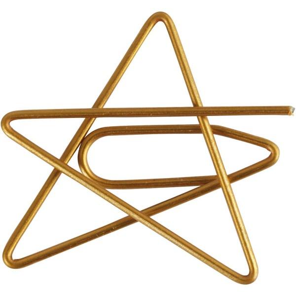 Trombones - Étoiles dorés - 3 x 3 cm - 6 pcs - Photo n°1
