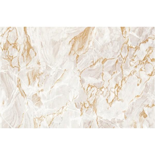 Rouleau d'adhésif décoratif - Marbre beige - 45 cm x 2 m - Photo n°1