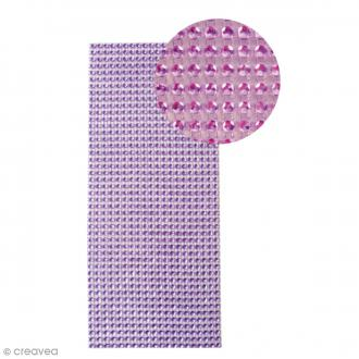 Strass adhésifs en bande - Violet - 10 x 25,5 cm