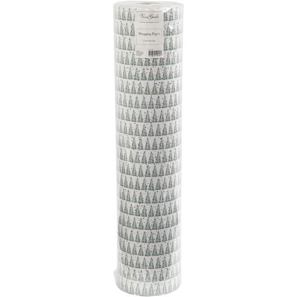 Rouleau papier cadeau - Sapins - 57 cm x 150 m - Photo n°2