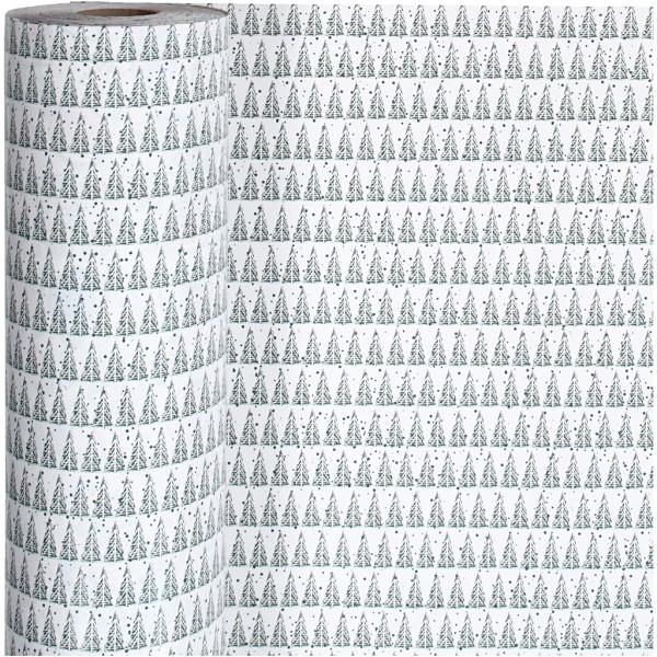 Rouleau papier cadeau - Sapins - 57 cm x 150 m - Photo n°1