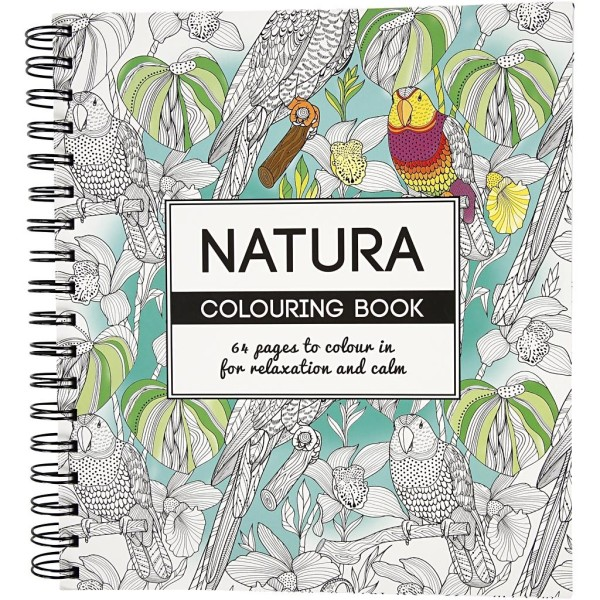 Livre De Coloriage Anti-Stress - Nature - 19,5 x 23 cm - 64 pages - Photo n°1
