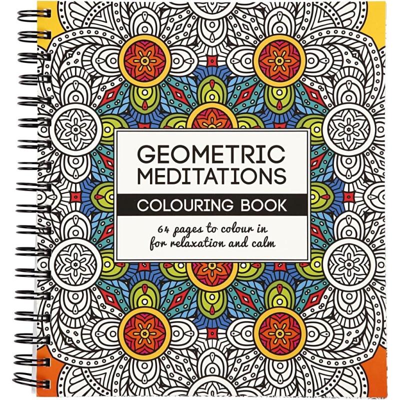 Livre De Coloriage Anti Stress Geometrique 19 5 X 23 Cm 64 Pages Livre Coloriage Adulte Creavea