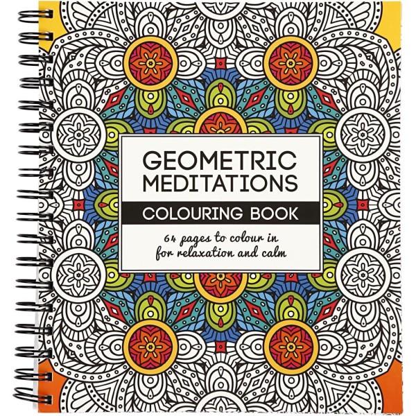 Livre De Coloriage Anti-Stress - Géométrique - 19,5 x 23 cm - 64 pages - Photo n°1