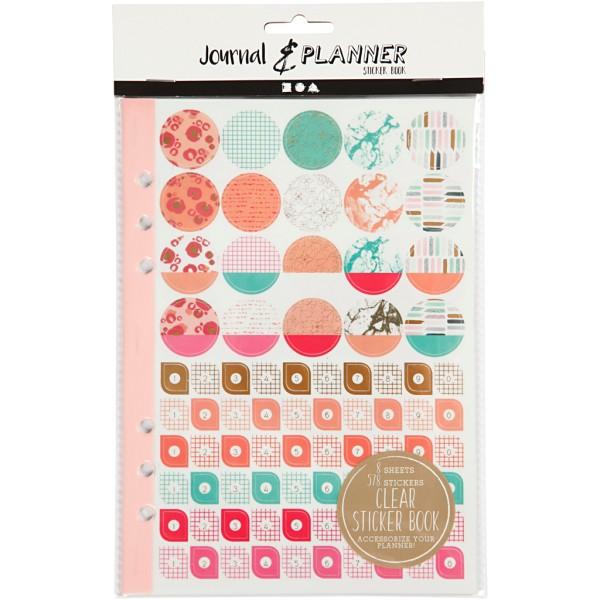 Livret de stickers pour planner - Rose et menthe - 578 pcs - Photo n°2