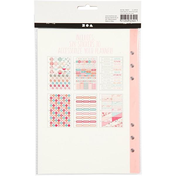 Livret de stickers pour planner - Rose et menthe - 578 pcs - Photo n°3