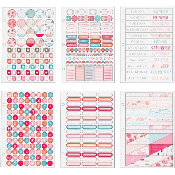 Livret de stickers pour planner - Rose et menthe - 578 pcs - Photo n°4