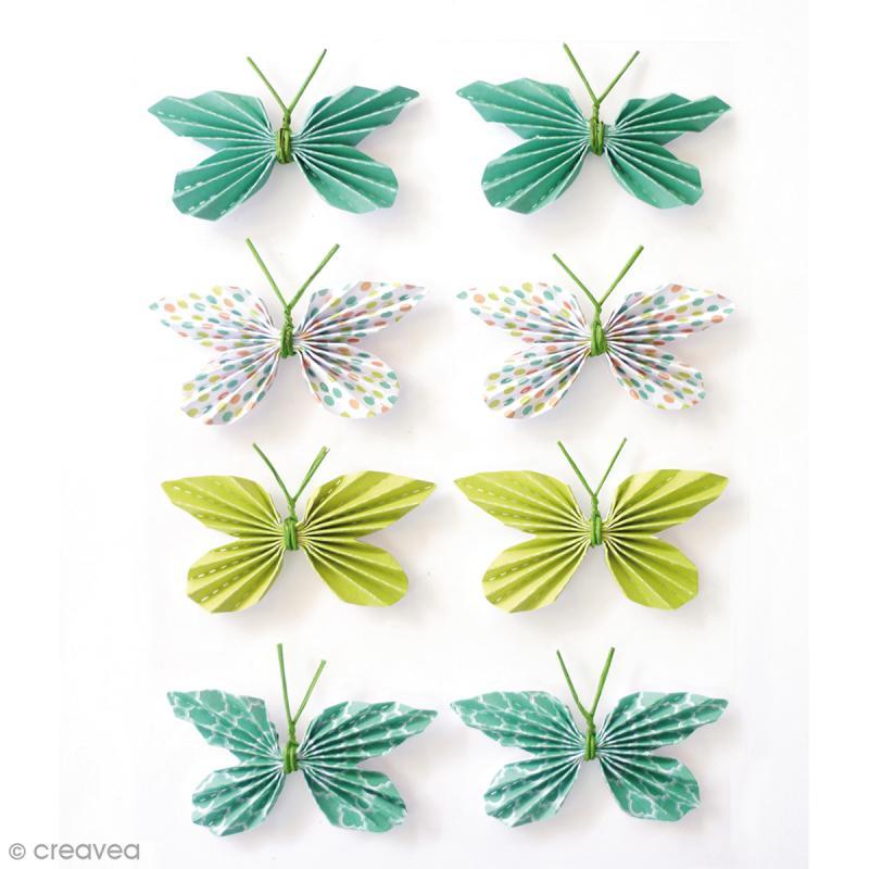 Stickers 3d papillon 25 mm 8 pcs stickers 3d creavea for Kit cuisine moleculaire cultura