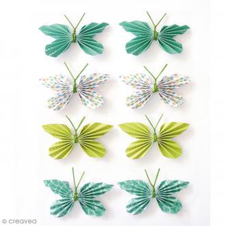 Stickers 3D - Papillon - 25 mm - 8 pcs