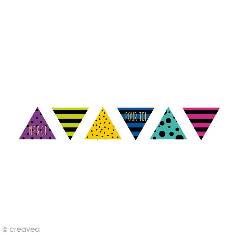 rouleau de stickers pr d coup s triangles multicolore. Black Bedroom Furniture Sets. Home Design Ideas