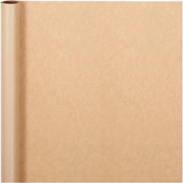 Rouleau de papier cadeau - Naturel - 50 cm x 5 m - Photo n°1