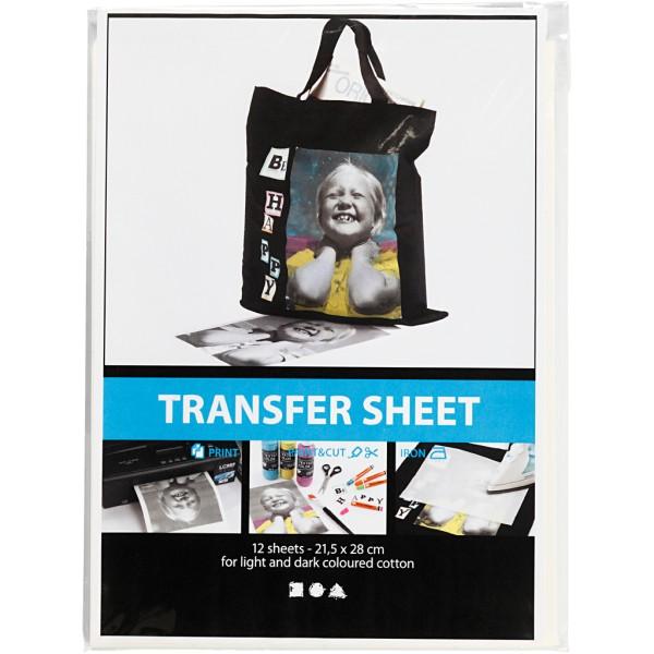 Papier transfert blanc - 21,5 x 28 cm - 12 pcs - Photo n°2