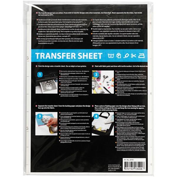 Papier transfert blanc - 21,5 x 28 cm - 12 pcs - Photo n°3