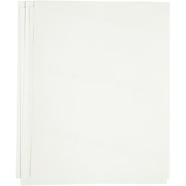 Papier transfert blanc - 21,5 x 28 cm - 12 pcs - Photo n°1