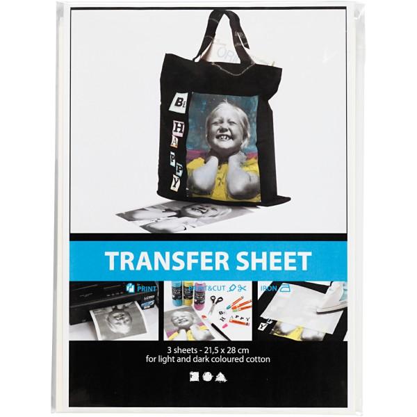 Papier transfert Blanc - 21,5 x 28 cm - 3 pcs - Photo n°2