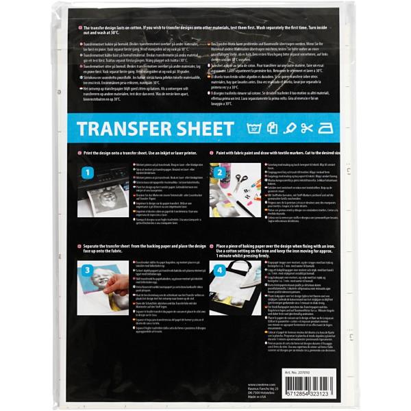 Papier transfert Blanc - 21,5 x 28 cm - 3 pcs - Photo n°3