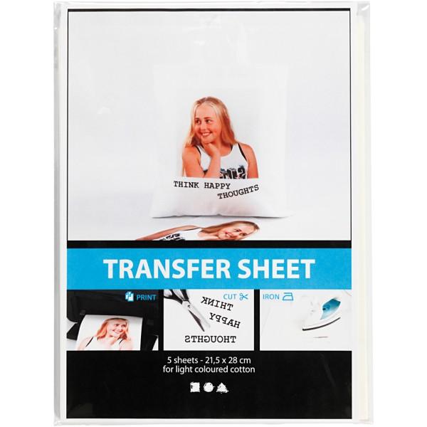 Papier transfert transparent - 21,5 x 28 cm - 3 pcs - Photo n°2