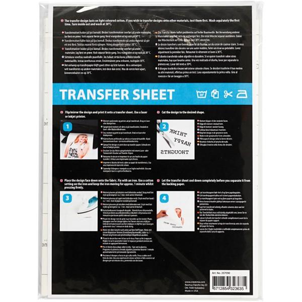 Papier transfert transparent - 21,5 x 28 cm - 3 pcs - Photo n°3