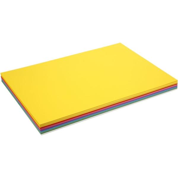 Papier Cartonné Printemps, A2 420X600 Mm,  180 Gr, Couleurs Assorties, 300Flles. Ass. - Photo n°1