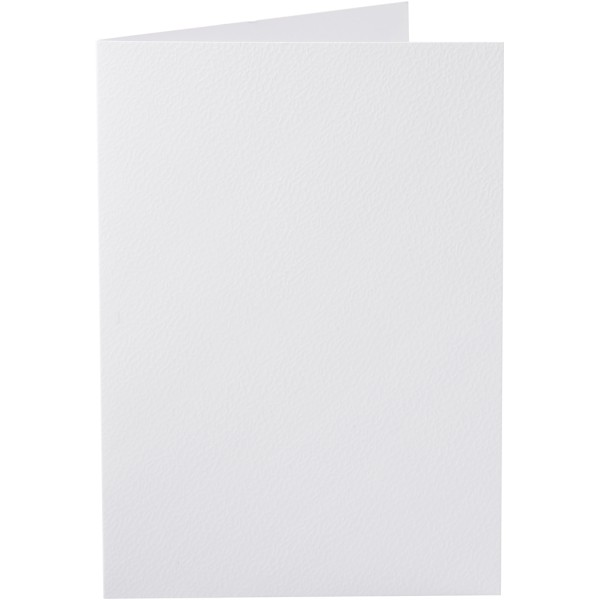 Carte pliée - 10,5 x 15 cm - Blanc - 10 pcs - Photo n°1