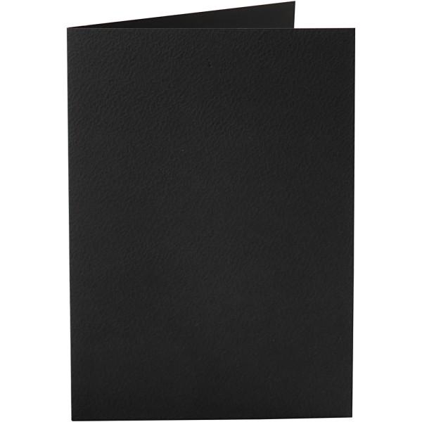 Carte pliée - 10,5 x 15 cm - Noir - 10 pcs - Photo n°1
