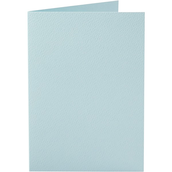 Carte pliée - 10,5 x 15 cm - Bleu pastel - 10 pcs - Photo n°1