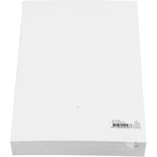 Papier cartonné Blanc - A5 - 250 gr - 100 pcs - Photo n°3