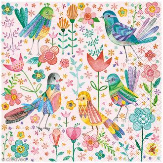 Serviette en papier - Oiseaux