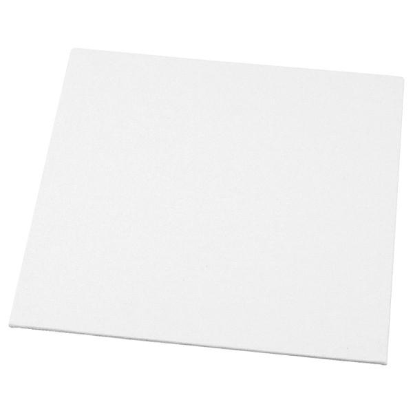 Carton entoilé pour peinture -Blanc - 10 x 10 cm   1 pce - Photo n°1