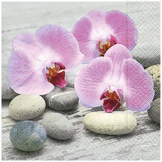 Serviette en papier - Orchidées