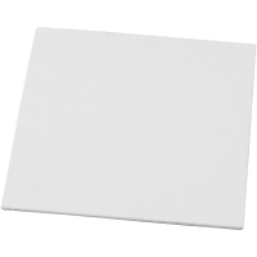 Carton toilé 3 mm - Blanc - 15 x 15 cm