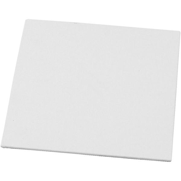 Carton entoilé 3 mm - Blanc - 15 x 15 cm - Photo n°1