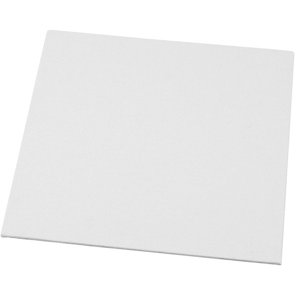 Carton entoilé pour peinture -Blanc - 20 x 20 cm   1 pce - Photo n°1