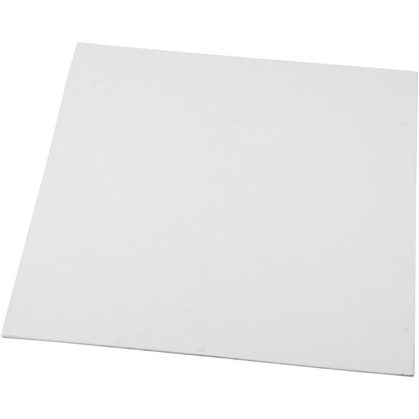 Carton entoilé 3 mm - Blanc - 30 x 30 cm - Photo n°1