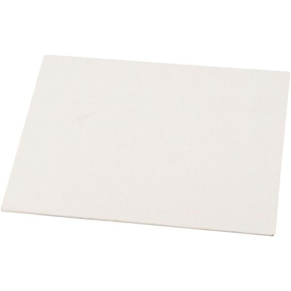 Carton entoilé 3 mm - Blanc - 21 x 30 cm - Photo n°1