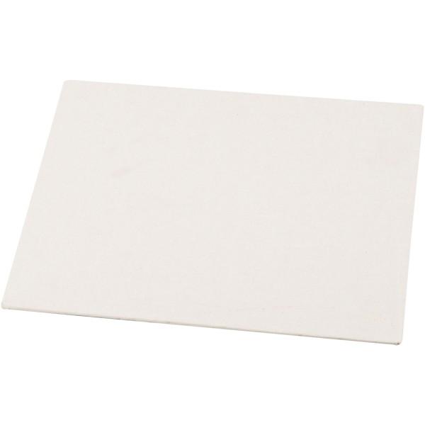 Carton entoilé 3 mm - Blanc - 30 x 42 cm - Photo n°1