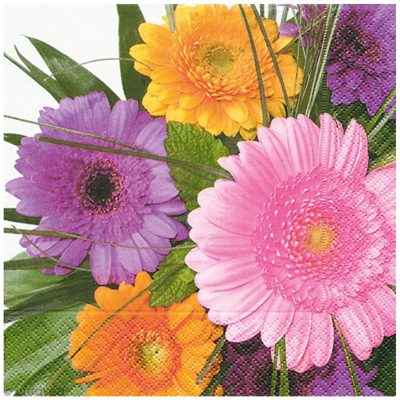 Serviette en papier - Floral - Photo n°1