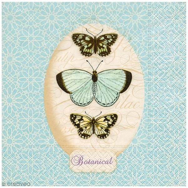 Serviette en papier - Papillons - Photo n°1