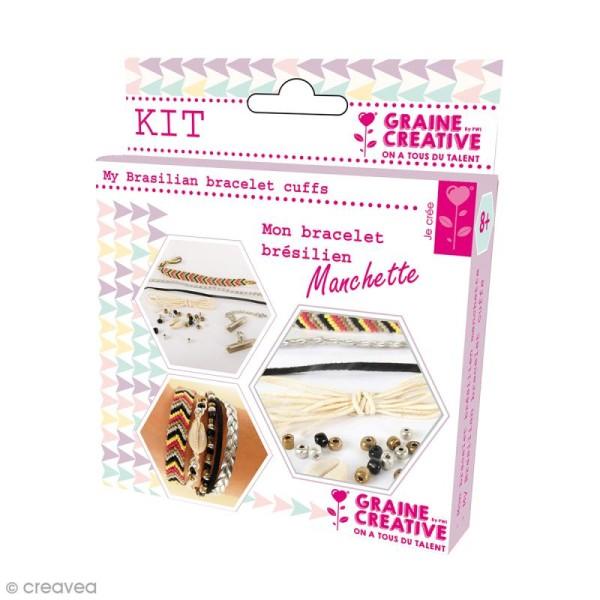 Kit Création de bracelet brésilien manchette - Bling bling - Photo n°1